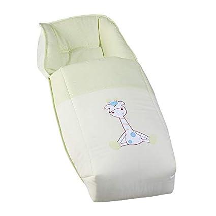 Saco para silla de bebe universal. Bordado JIRAFA. Con 3 opciones de uso: 1º Saco coche, 2º Colchoneta silleta y 3º Confortable cubrepies. Koketes, ...
