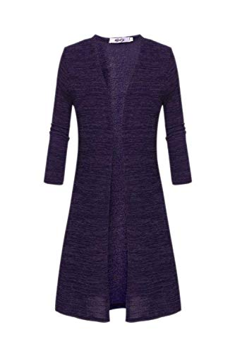 Outerwear Giacca Fit Giaccone Nero Slim A Donna Cute Maglia Giubotto Chic Primaverile Fashion Lunghe Eleganti Squisito Purple Casual Lunga Maniche Aperto Forcella Autunno 81xwTRq