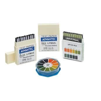 Advantec MFS 7010090 pH Test Paper, Narrow Range, Booklet, Phenol Blue, pH 3.2-5.6, 7mm Width, 70mm Length (Pack of 200)