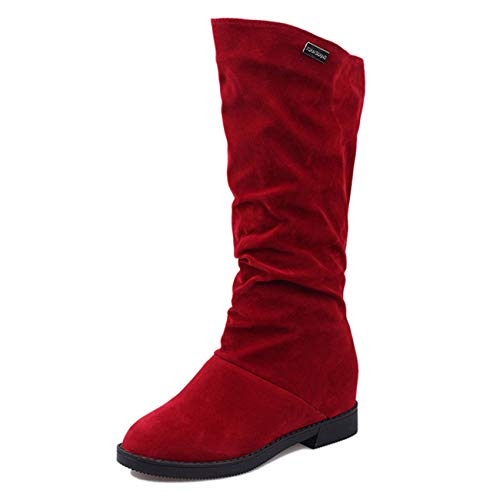 - Cute Cat Warm Boots Women Family Christmas Cotton Winter Shoes Women Boot Red