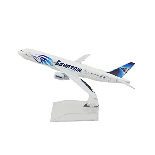 400 Egypt Air (24-Hours Egypt Air B777-300 Alloy Metal Model Toy Plane)