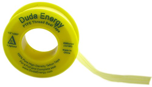 Oil Tape (Duda Energy ThreadSeal-1.2g-050x260-Yellow 1 Roll of 1/2