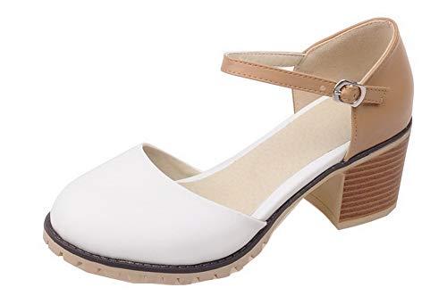 Flats Tacco Donna FBUIDD010616 Fibbia Ballet Colore Medio Bianco AllhqFashion Assortito 7qHOgCn