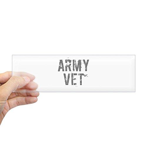 "CafePress - ARMY VET Bumper Sticker - 10""x3"" Rectangle Bumpe"