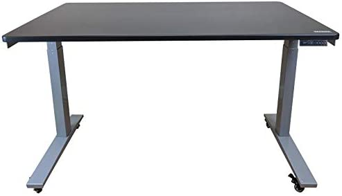 Reviewed: Rise UP Dual Motor Electric Standing Desk 48×30 Black Desktop Premium Ergonomic Adjustable Height sit Stand up Home Office Computer Desk Table Motorized Powered Modern Furniture Small Standup Table