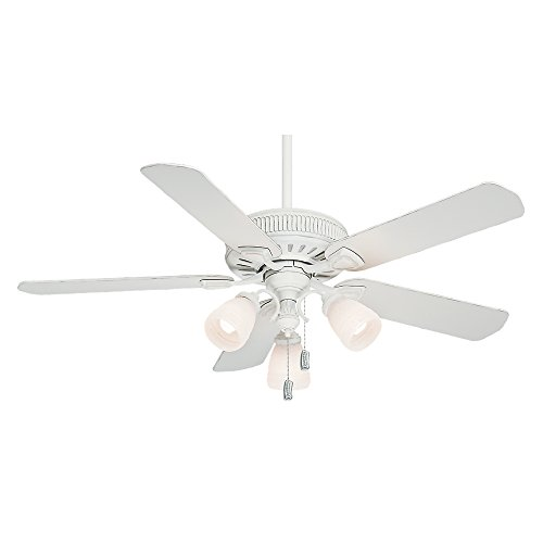 Casablanca fan parts amazon casablanca 54005 ainsworth gallery 54 inch 5 blade 3 light ceiling fan cottage white with cottage white blades and frosted white glass globes mozeypictures Image collections