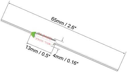 Thermal Fuse 250V 10A TF 216 Celsius Degree Temperature Electrical Circuit Cut 10pcs