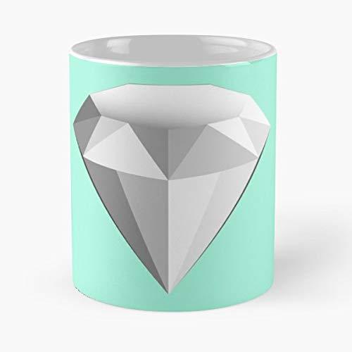 Simple Gem Stone Tiffany - Coffee Mugs,handmade Funny 11oz Mug Best Holidays Gifts For Men Women Friends.