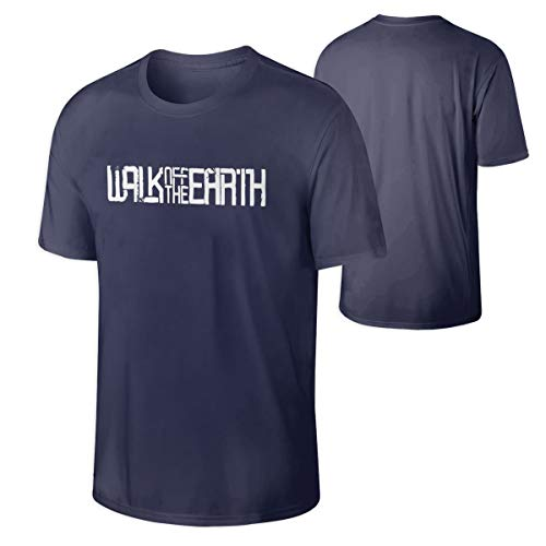 Men's Walk Off The Earth Rock Band Funny Shirts Navy L