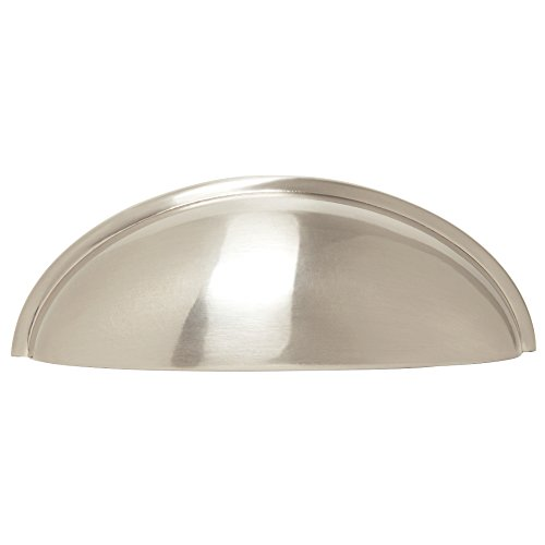 Franklin Brass P34702K-SN-B 3'' Contemporary Bin Cup Drawer Handle Pull, Satin Nickel, 10-Pack by Franklin Brass (Image #1)