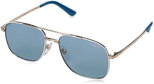 VOGUE Women's Metal Woman Rectangular Sunglasses, Pale Gold/White, 55 - Vogue Glasses Optical