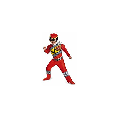[Disguise Red Ranger Dino Charge Toddler Muscle Costume, Small (2T)] (Creative Halloween Costumes 1 Year Old)