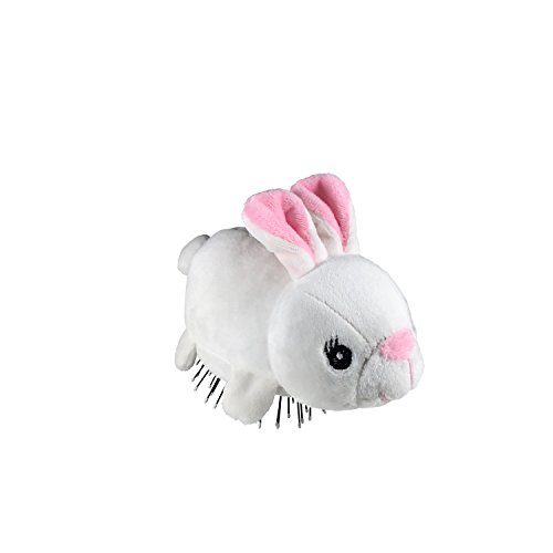 Removable Bunny - Tangle Pets BOPPITY THE BUNNY- The Detangling Brush in a Plush, Great for Any Hair Type, Removable Plush, As Seen on Shark Tank