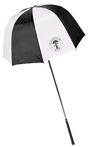 Extended Inner Shaft - DrizzleStik Flex - Golf Club Umbrella (Black/White)