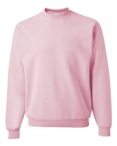 (Jerzees Men's NuBlend Crew Neck Sweatshirt CLASSIC PINK - M)