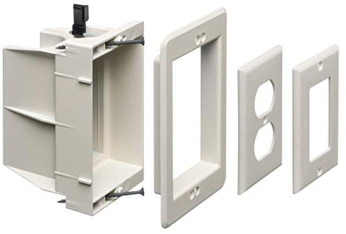 Arlington DVFR1W-1 Recessed Electrical/Outlet Mounting Box, Single Gang