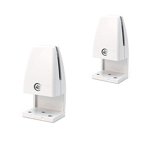 Whale GoGo 2 Pieces Office Cubicle Clips Partitions Privacy Panel Clamp Holder for Wood Glass (L Type)