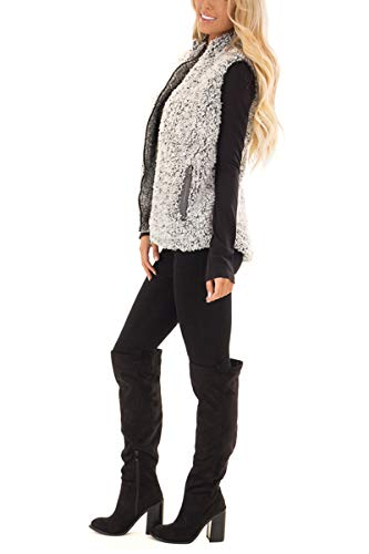 MEROKEETY-Womens-Casual-Sherpa-Fleece-Lightweight-Fall-Warm-Zipper-Vest-with-Pockets
