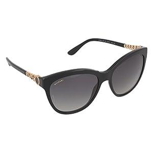 Bvlgari BV8158 501/T3 Black BV8158 Cats Eyes Sunglasses Polarised Lens Category