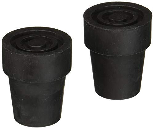 Medline Cane Replacement Tips, Black