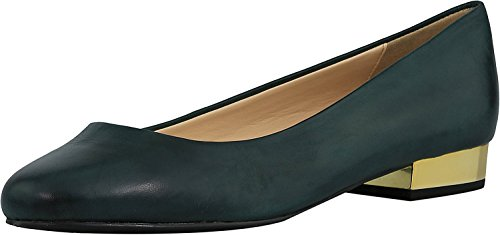 Isaac Mizrahi Live! Womens Janna Leather Ankle-High Flat Shoe Dark Emerald wTiaqOxV1