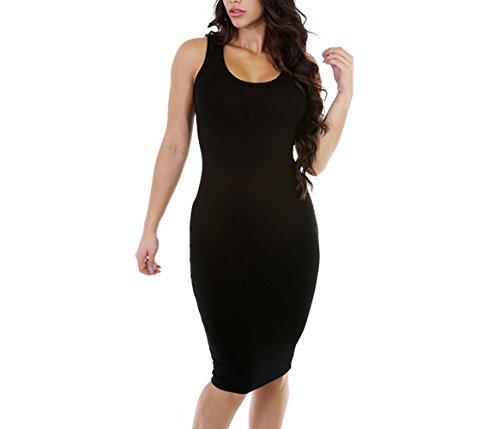 Buy below the knee black dress - 9