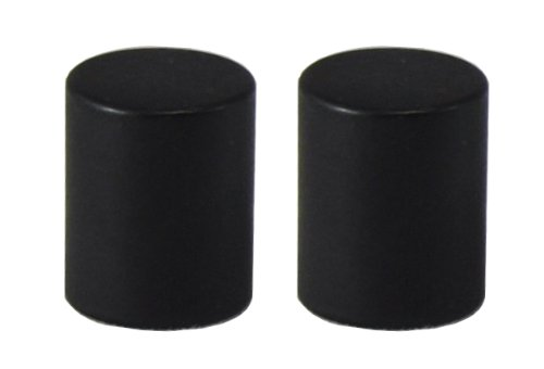 - Urbanest Cylinder Lamp Finial for Lamp Shades, Set of 2, Black