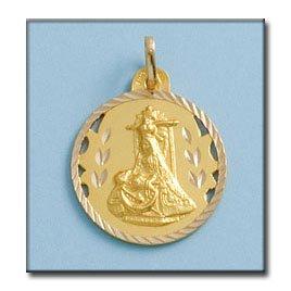 Médaille D'or 18kt Vierge De Las Angustias 23mm
