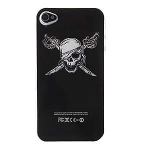 Mini - Stylish Cool Skull Style Hard Case for iPhone 4 & 4S (Black)