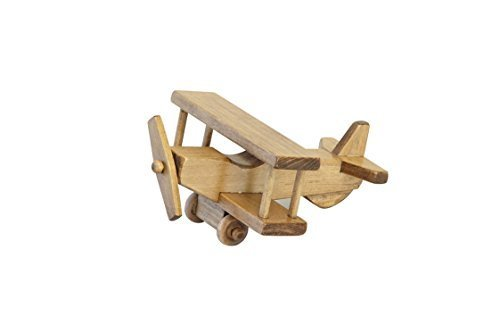 Amish-Made Wooden Toy Airplane, Kid-Safe Finish