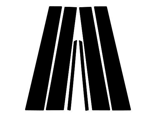 Rvinyl Rtrim Pillar Post Decal Trim for Toyota Camry 2007-2011 - Matte (Black) (Toyota Camry Pillar)
