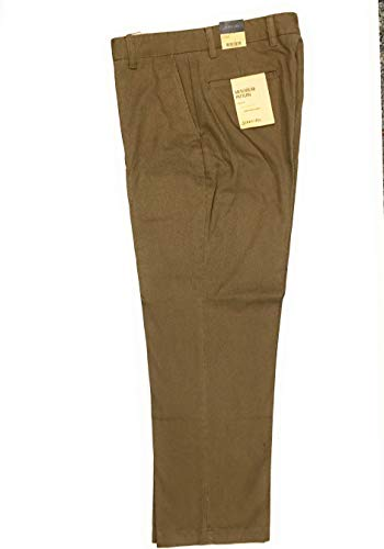 St. John's Bay Pant Relaxed fit Soft seeded Finish Flat Front Khaki 32X30 from St. John's Bay