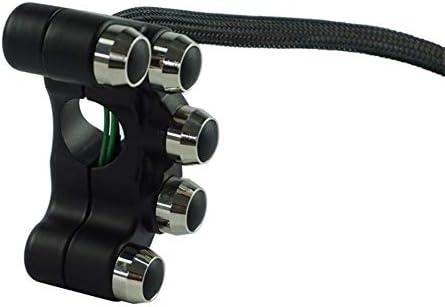 "JPLJJ スイッチボタンユニバーサルアルミ5ボタン7/8""22mmハンドルバーオートバイスイッチヘッドライトハザードブレーキON-OFF"