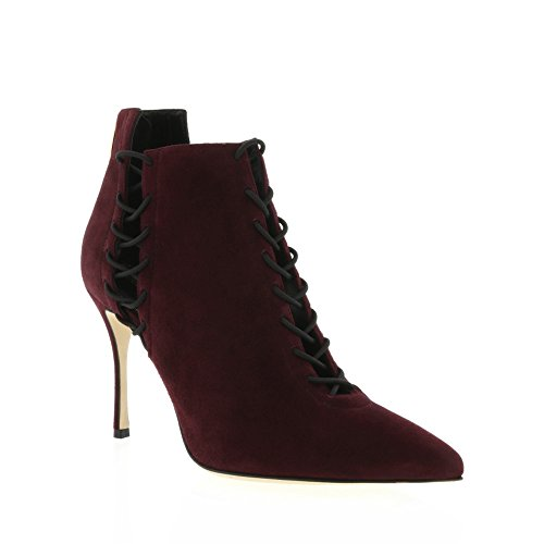sergio-rossi-burgundy-suede-elastic-laced-ankle-bootie