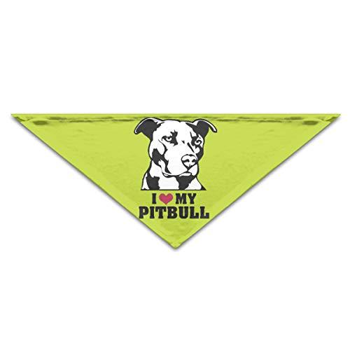 I Love My Pitbull Staffy Terrier Dog Dog Bandana Scarf Bibs Triangle Neckerchief for Dog Cat Puppy Pet Animal