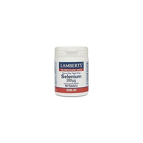 LAMBERTS SELENIO 200 mcg. (Como Seleno-L-Metionina) 60comp.: Amazon.es: Salud y cuidado personal