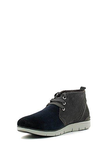 STONEFLY 107670 zapatos azules mediados botas de hombre cordones de cuero Blu
