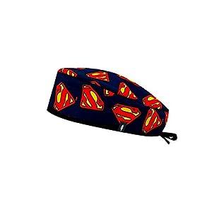 Modelo: Superman - Gorro de Quirófano ROBIN HAT - Estampado - Pelo Corto - 100% algodón (Autoclave) 22