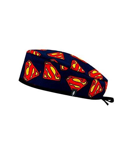 Modelo: Superman - Gorro de Quirófano ROBIN HAT - Estampado - Pelo Corto - 100% algodón (Autoclave) 2