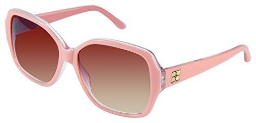 BCBGMaxazria Women's Enchantee Rectangular Sunglasses, Nude Laminate, 48.5 - Bcbgmaxazria Sunglasses