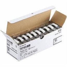 パソコン オフィス用品 その他 キングジム SS12K-10PN テプラPROテープ エコパック 白 黒文字 12mm幅 8m 10個入 -ak [簡易パッケージ品] B07D1BX4L3
