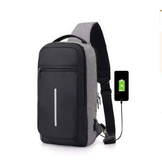 Multipurpose Men Crossbody Bags Chest Pack Short Trip Messengers Bag Waterproof Shoulder USB Repellent Sling 2018