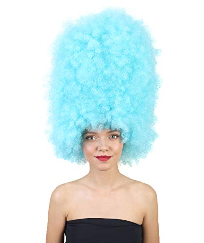 Halloween Party Online Super Size Jumbo Afro Wig Collection, Adult & Kids (Adult, Light Blue)