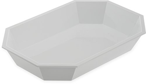 White Octagonal Low Profile Crock 2.5 Pound and Insert for 5 Pound Crock - 6 per ()