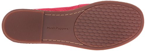 Hush Puppies Womens Adena Piper Slip-on Loafer Rött Läder