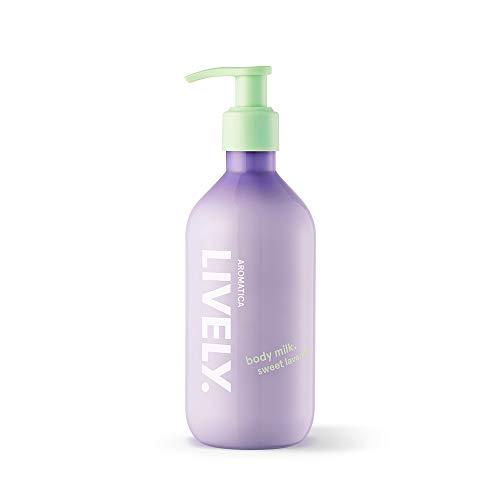 AROMATICA LIVELY Body Milk, Sweet Lavender 10.14oz / 300ml, Vegan, EWG VERIFIED