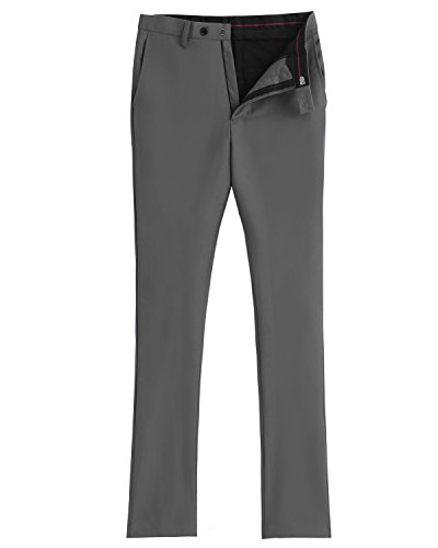 Costume Des Hommes Solovedress Pantalons Slim Pantalon De Costume Robe Avant-plissés Occasionnels Pantalon Gris