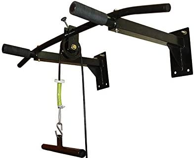 Ibs home gym pull up bar with top pulley solid fitness gym