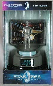 Star Trek Champions Fine Pewter Figure Caption Kirk