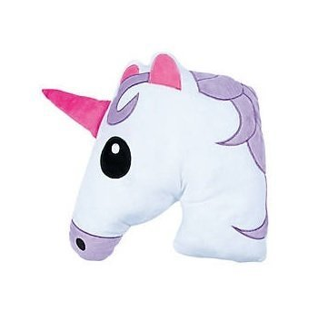 Fun Express Unicorn Stuffed Animal Emoji 12 Inch - Plush Throw Pillow for Children's Room, Home Decorations and Unicorn Party Supplies